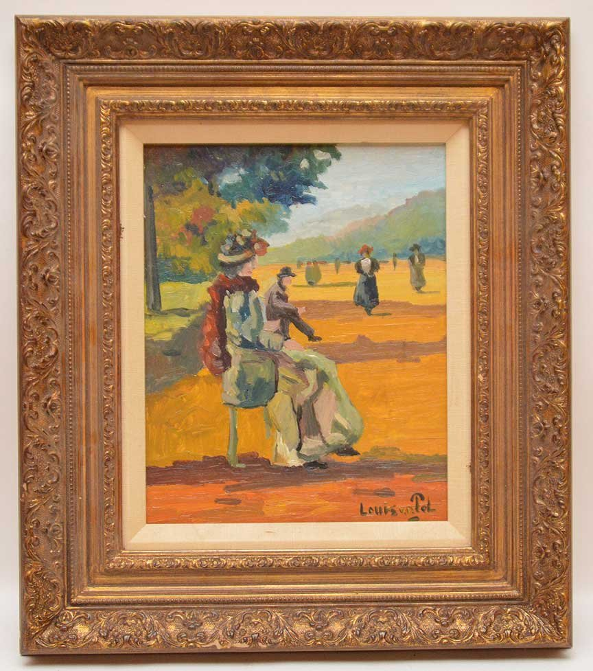 Louis Van Der Pol (Dutch, 1896-1982) Park Scene with