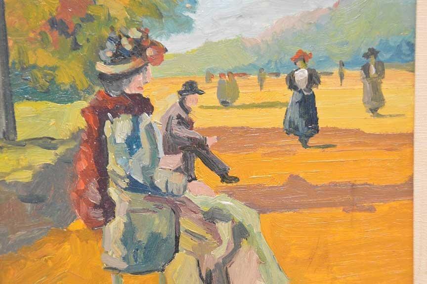 Louis Van Der Pol (Dutch, 1896-1982) Park Scene with - 2