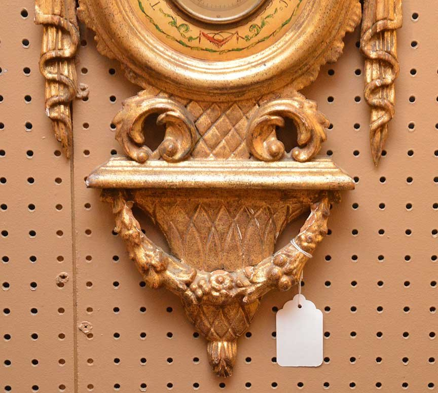 """Carved giltwood Barometer, 35""""h x 13""""w - 2"""