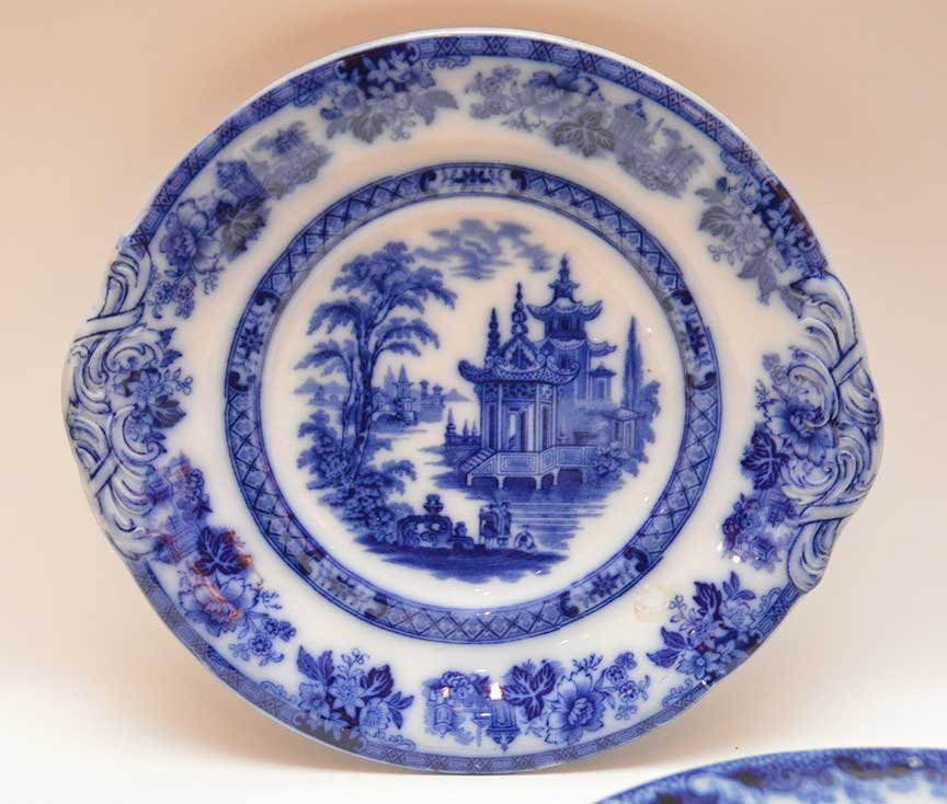 Flo Blue china and Historic transferware, 25 various - 5