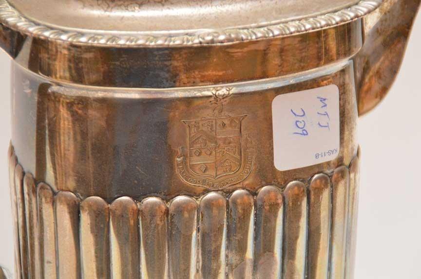Georgian silver teapot on stand, John Edwards, approx. - 2