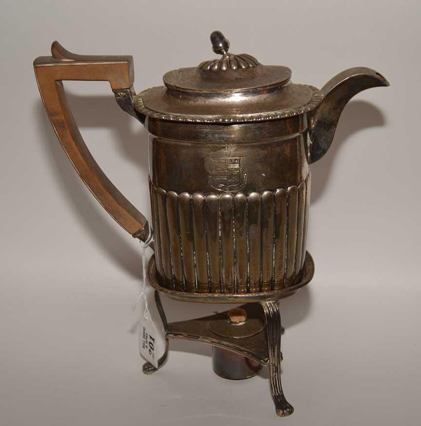 Georgian silver teapot on stand, John Edwards, approx. - 3