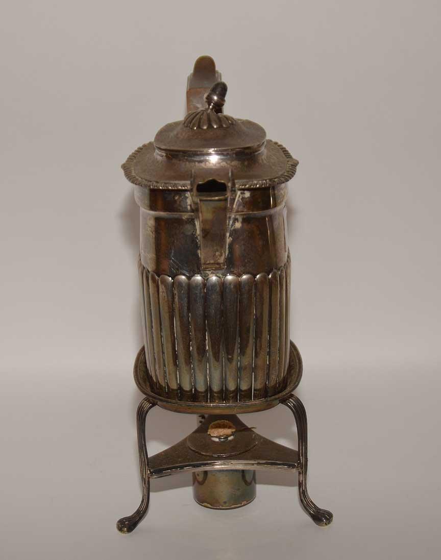 Georgian silver teapot on stand, John Edwards, approx. - 6