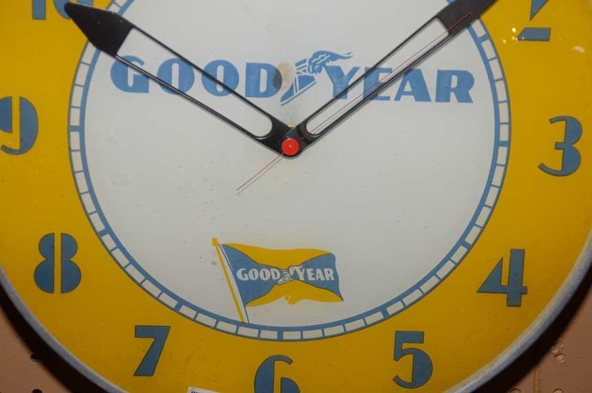 "Advertising electric ""Good Year"" wall clock, 15""dia - 3"