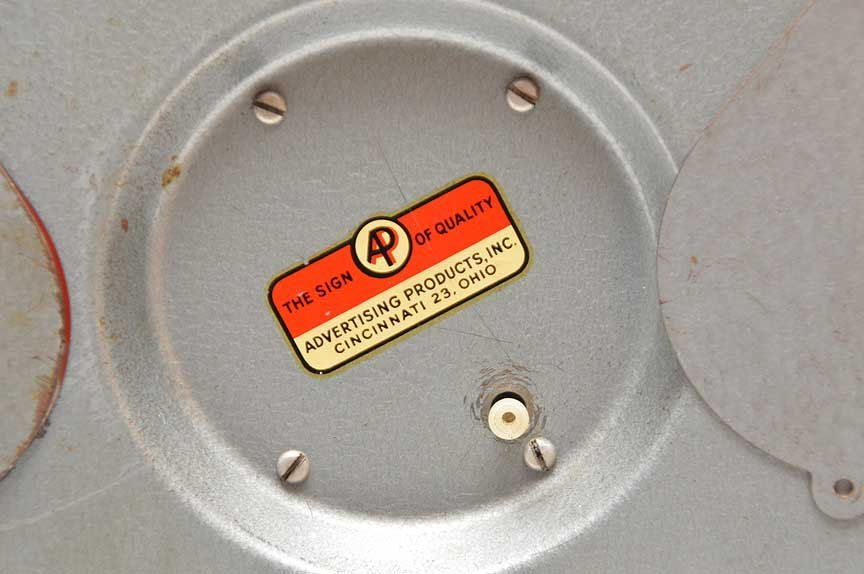 "Advertising electric ""Fram Filters"" wall clock, 16""dia - 3"