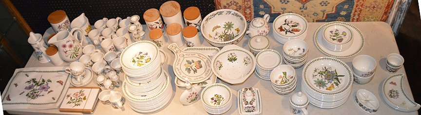"Port Meirion china set, ""The Botanic Garden"" combined"