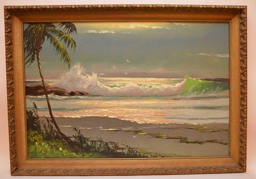 "Florida Highwaymen Painting by Sam Newton, ""moonlit"