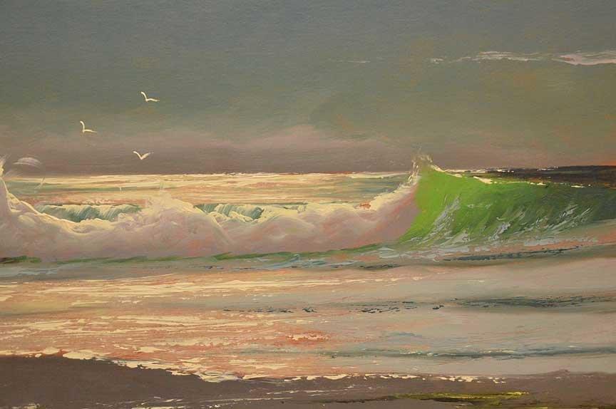 "Florida Highwaymen Painting by Sam Newton, ""moonlit - 2"