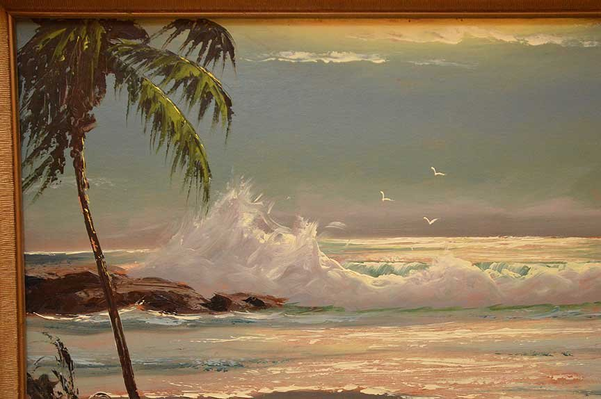 "Florida Highwaymen Painting by Sam Newton, ""moonlit - 3"