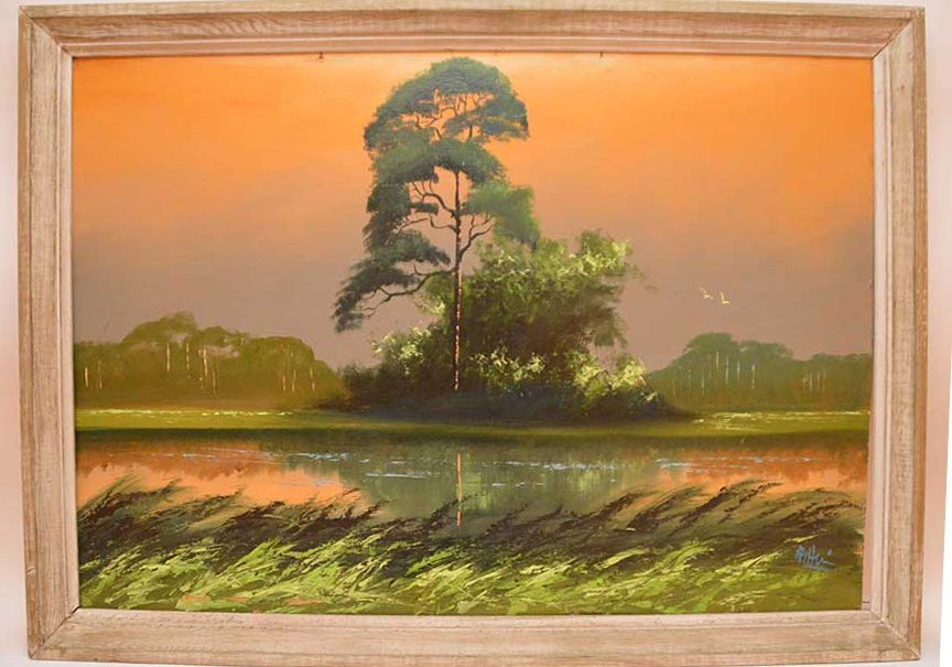 "Florida Highwaymen Painting by Al Hair, ""Everglades"