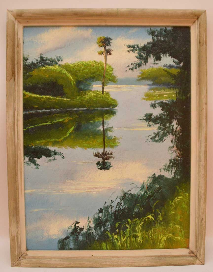 """Florida Highwaymen Painting by Willy Daniels  """"River"""