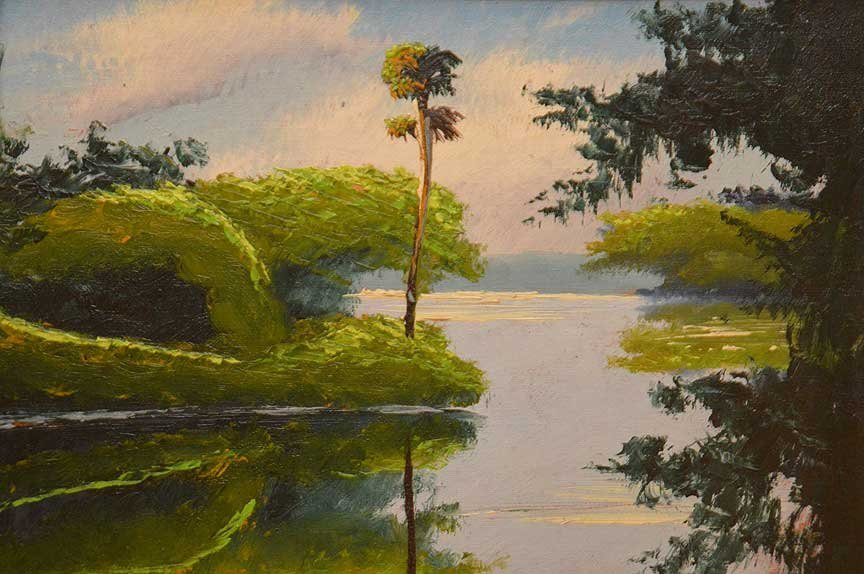"""Florida Highwaymen Painting by Willy Daniels  """"River - 2"""