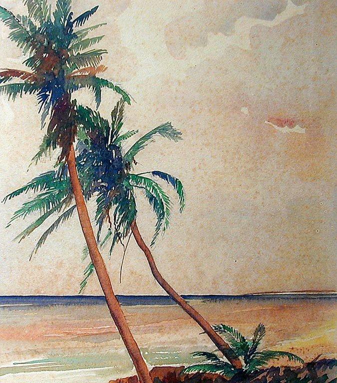 Frederick Soldwedel (Amer 1886-1957) Palm Trees W/C - 3