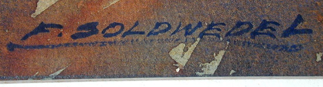 Frederick Soldwedel (Amer 1886-1957) Palm Trees W/C - 4