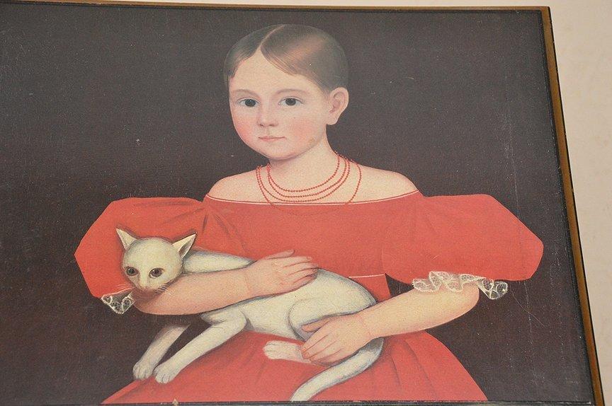 "Colonial painted motif box, 17""h x 20""w x 15 1/2""d - 2"