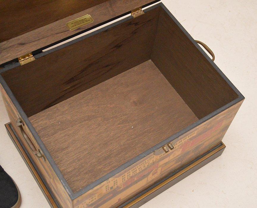 "Colonial painted motif box, 17""h x 20""w x 15 1/2""d - 6"