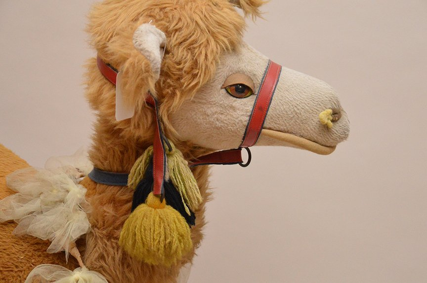 Vintage Standing stuffed animals, camel and turtle, - 3