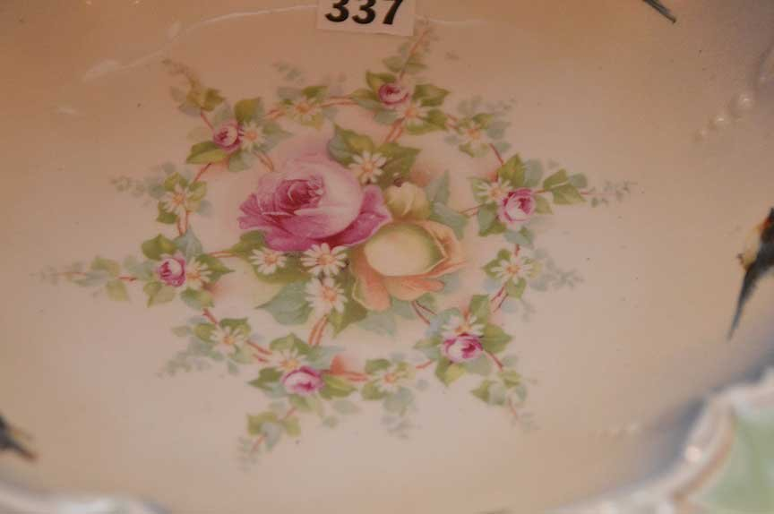 "4 R.S. Prussia bowls, all approx. 3""h x 10""dia - 4"