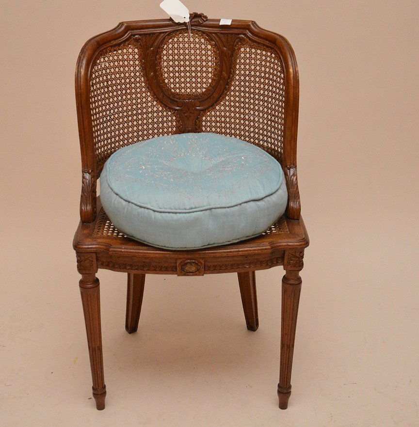 """French barrel back chair with cane seat and back, 33""""h"""