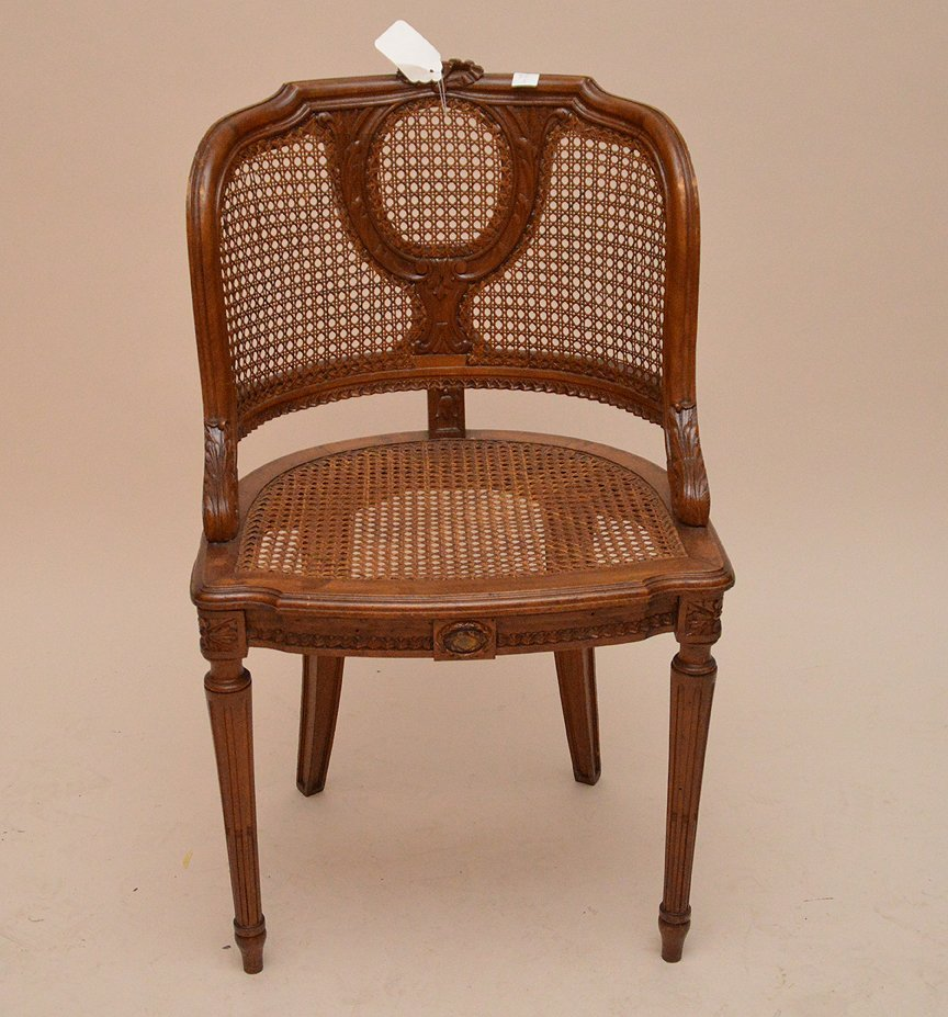 """French barrel back chair with cane seat and back, 33""""h - 2"""