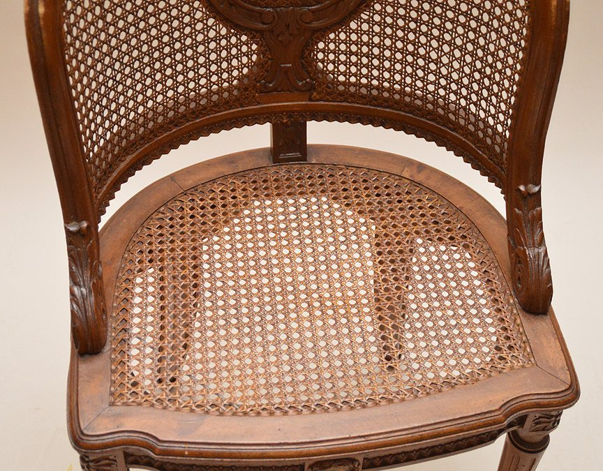 """French barrel back chair with cane seat and back, 33""""h - 3"""