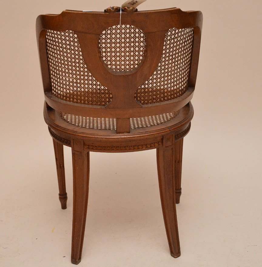 """French barrel back chair with cane seat and back, 33""""h - 4"""