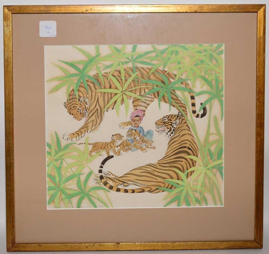 Charles Baskerville Jr (American 1896 - 1994) Jungle