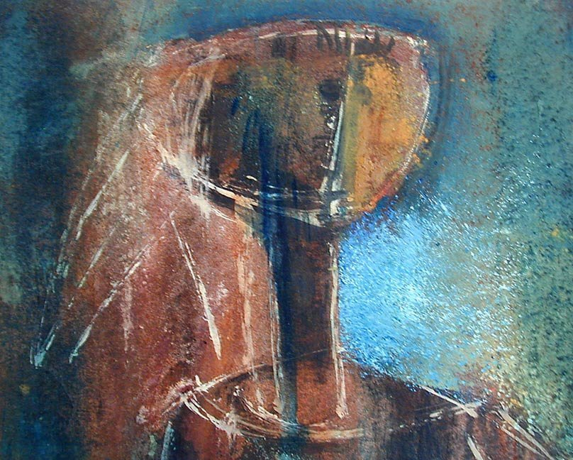 Mid Century Abstract Figural signed Alexander - 2