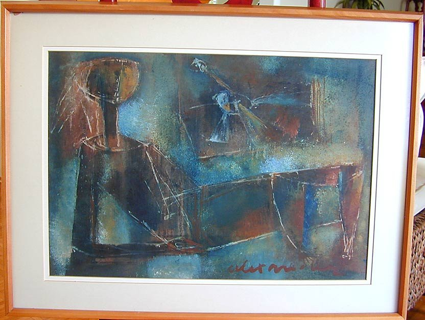Mid Century Abstract Figural signed Alexander - 4