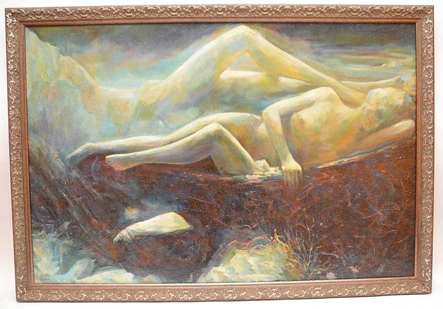 Reclining Nude oil Painting by Pierre Puvis de