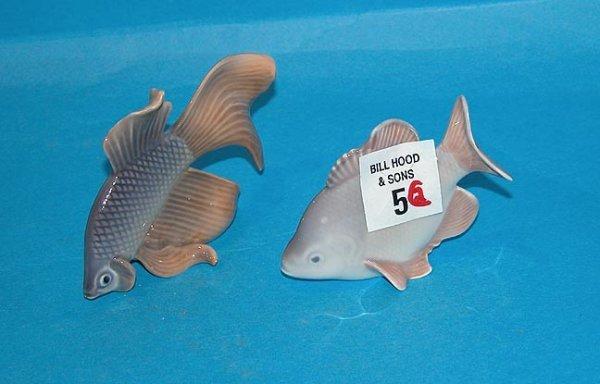 "5: Pair of Royal Copenhagen fish, one 3""l, one 3 3/4"""