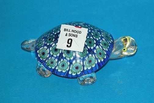 """9: Murano turtle, 4 1/2""""l"""