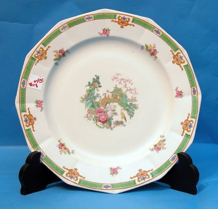 "23: Round 14"" diam. Myott Staffordshire platter and 10"