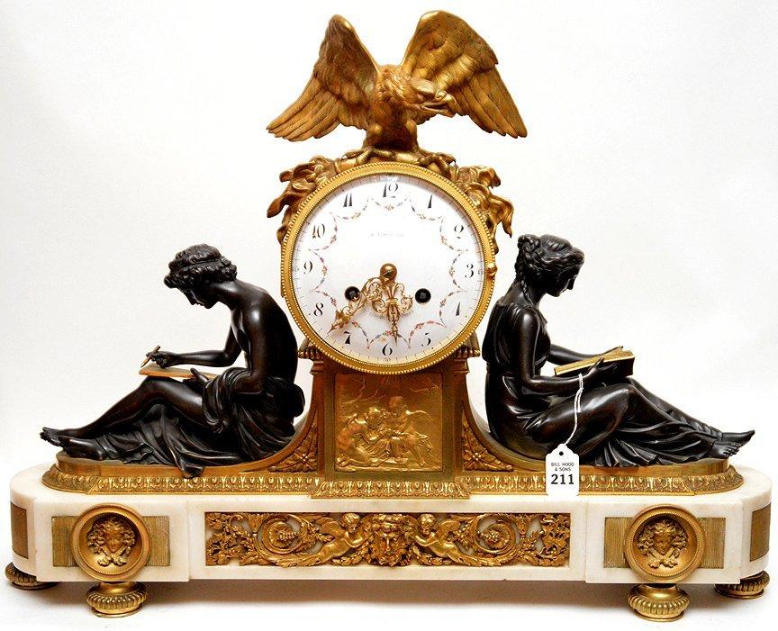 19th C. French Mantle clock Louis XVI
