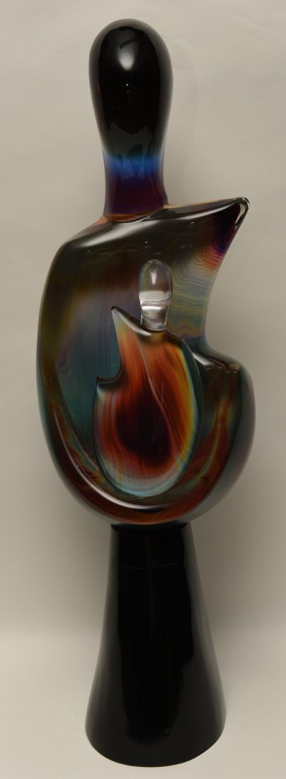 "Loredano Rosin Art Glass Murano Sculpture ""Maternita"""