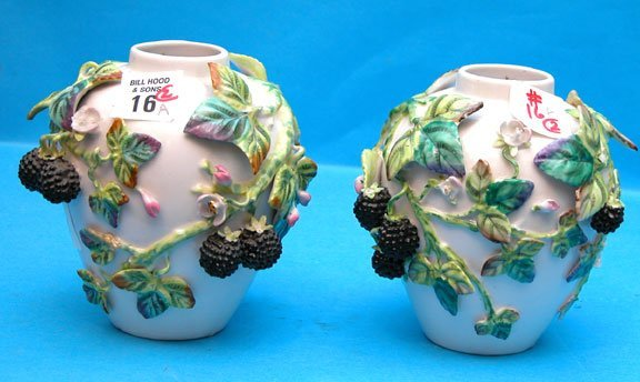 1016A: Pair of 19th century vases German Dresden Style