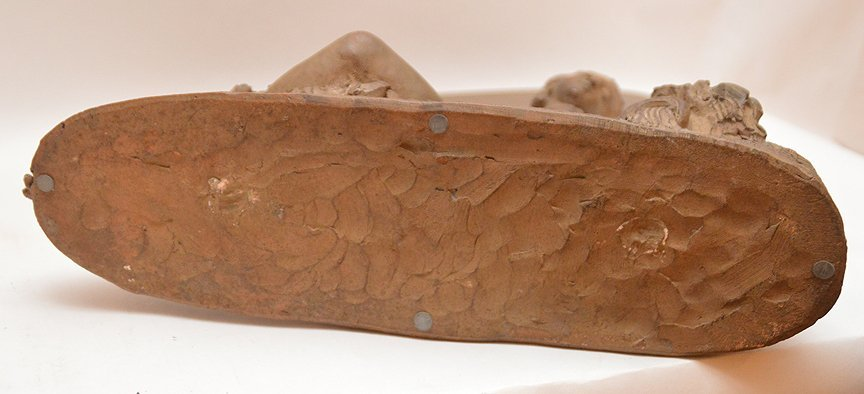 Antique French Terra Cotta Sculpture of a reclining - 5