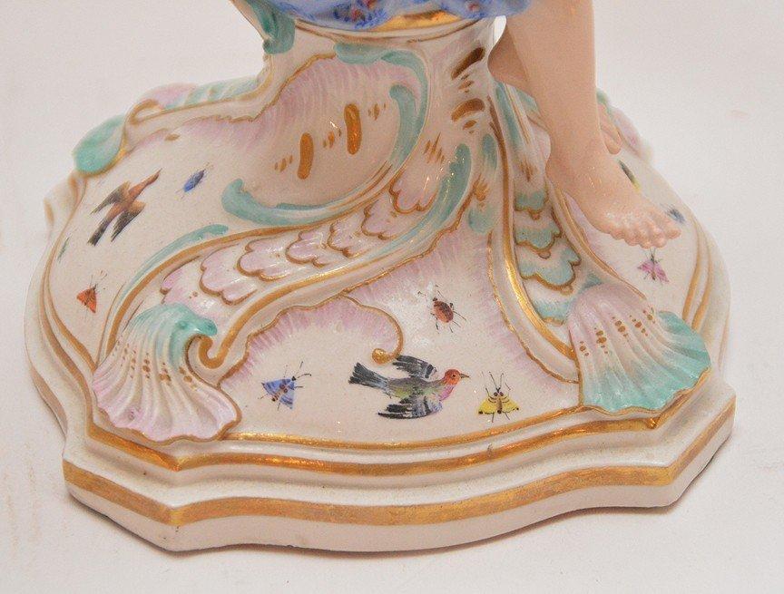 Pair Meissen Porcelain 4 Light Candelabra.  Condition: - 3