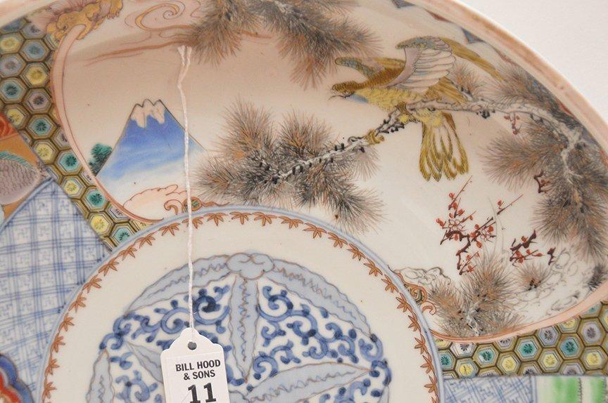 19th Century Japanese Imari Porcelain Charger.  Dia. 15 - 2