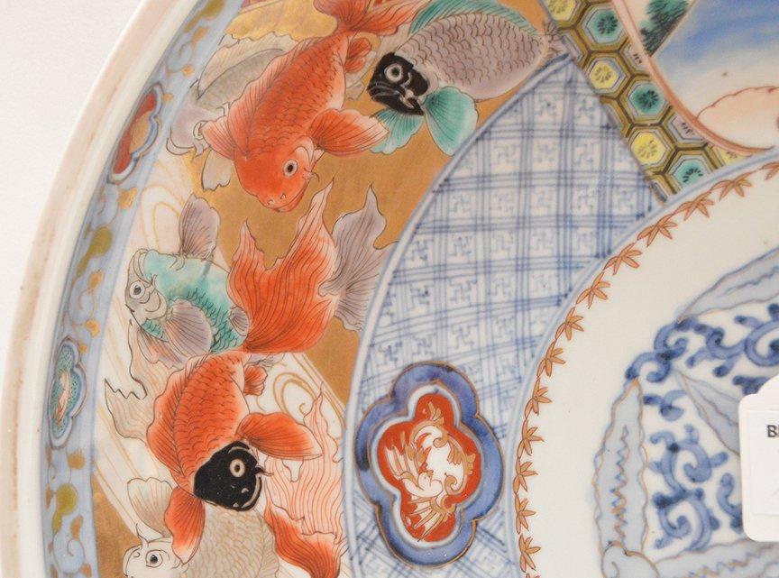19th Century Japanese Imari Porcelain Charger.  Dia. 15 - 4