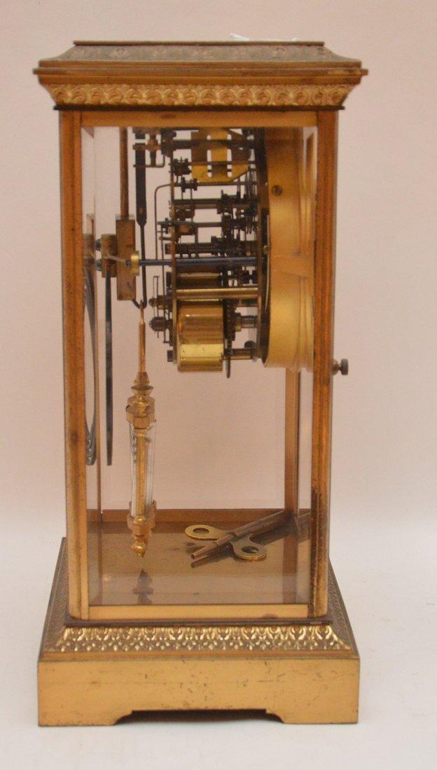 Bronze & Crystal Regulator Clock with mercury bob - 3