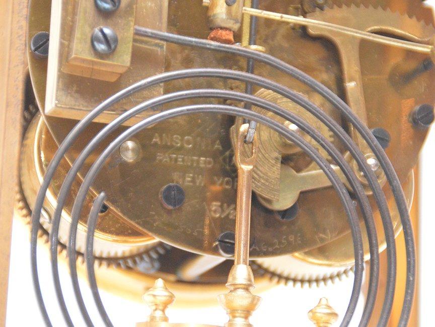 Bronze & Crystal Regulator Clock with mercury bob - 4