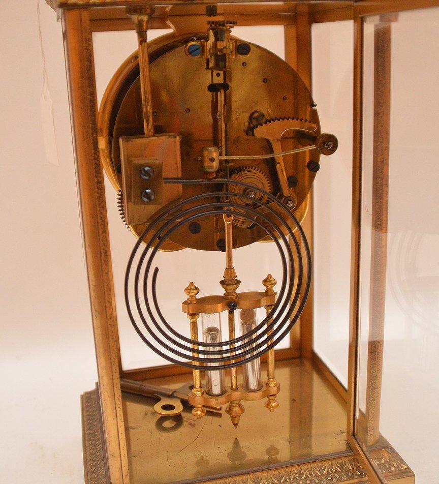 Bronze & Crystal Regulator Clock with mercury bob - 5