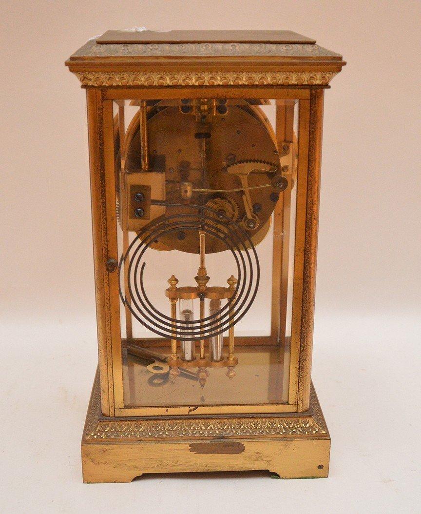 Bronze & Crystal Regulator Clock with mercury bob - 6
