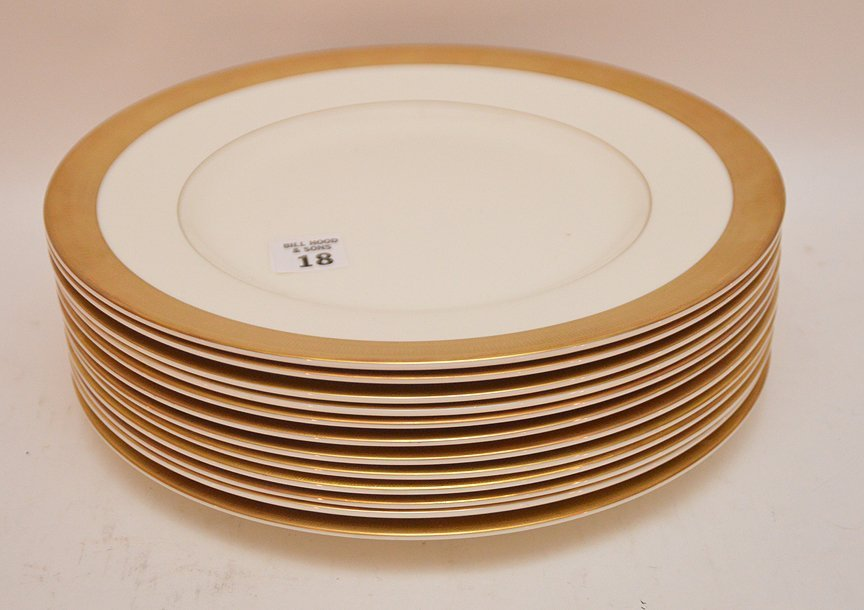 Set 12 Royal Worcester Porcelain Plates.  Dia. 10 3/4""