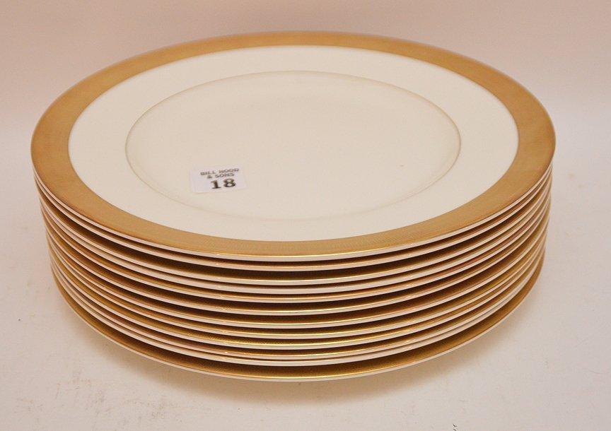 "Set 12 Royal Worcester Porcelain Plates.  Dia. 10 3/4"""
