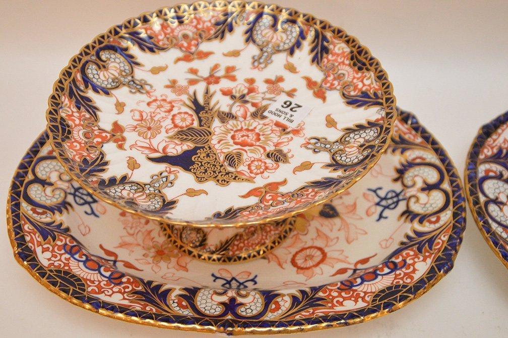 4 Pieces Royal Crown Derby porcelain, 2 compotes (4 - 2