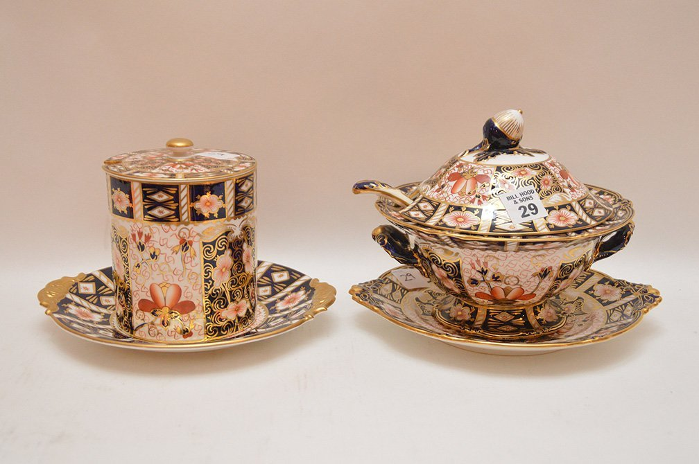 "Royal Crown Derby ""Imari"" porcelain covered tureen with"