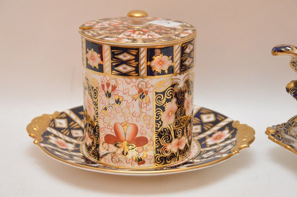 "Royal Crown Derby ""Imari"" porcelain covered tureen with - 2"