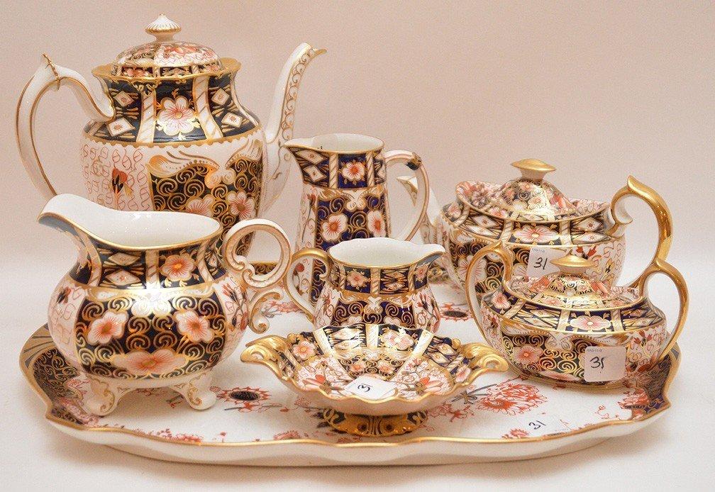 """8 Pieces Royal Crown Derby """"Imari"""" Porcelain , tea &"""